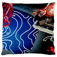 Panic! At The Disco Released Death Of A Bachelor Large Flano Cushion Case (one Side)