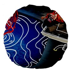 Panic! At The Disco Released Death Of A Bachelor Large 18  Premium Flano Round Cushions by Samandel