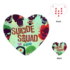 Panic! At The Disco Suicide Squad The Album Playing Cards (heart)  by Samandel