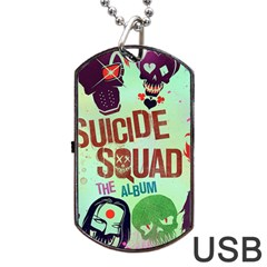 Panic! At The Disco Suicide Squad The Album Dog Tag Usb Flash (one Side)