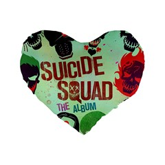 Panic! At The Disco Suicide Squad The Album Standard 16  Premium Heart Shape Cushions by Samandel