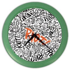 Paramore Is An American Rock Band Color Wall Clocks by Samandel