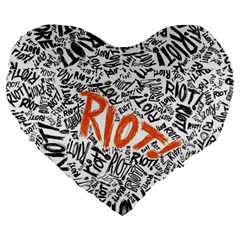 Paramore Is An American Rock Band Large 19  Premium Heart Shape Cushions by Samandel