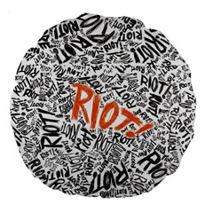 Paramore Is An American Rock Band Large 18  Premium Flano Round Cushions by Samandel