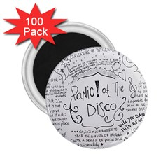 Panic! At The Disco Lyrics 2 25  Magnets (100 Pack)