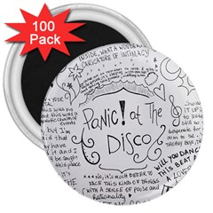 Panic! At The Disco Lyrics 3  Magnets (100 Pack) by Samandel
