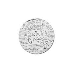 Panic! At The Disco Lyrics Golf Ball Marker (4 Pack) by Samandel