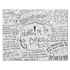 Panic! At The Disco Lyrics Rectangular Jigsaw Puzzl