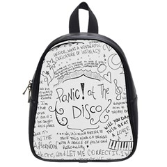 Panic! At The Disco Lyrics School Bag (small) by Samandel