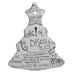 Panic! At The Disco Lyrics Christmas Tree Ornament (two Sides) by Samandel