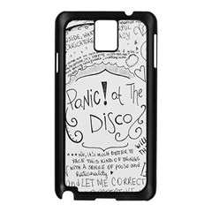Panic! At The Disco Lyrics Samsung Galaxy Note 3 N9005 Case (black)