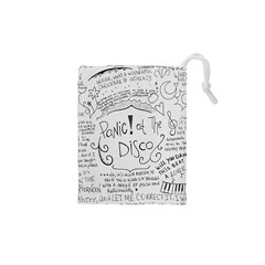 Panic! At The Disco Lyrics Drawstring Pouches (xs)  by Samandel