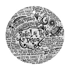 Panic! At The Disco Lyric Quotes Ornament (round) by Samandel