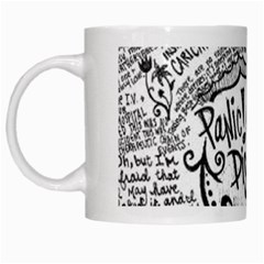 Panic! At The Disco Lyric Quotes White Mugs by Samandel