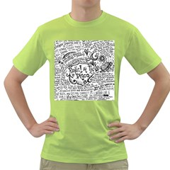 Panic! At The Disco Lyric Quotes Green T Shirt