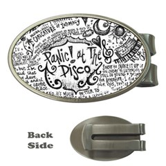 Panic! At The Disco Lyric Quotes Money Clips (oval)  by Samandel