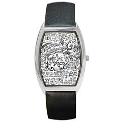 Panic! At The Disco Lyric Quotes Barrel Style Metal Watch