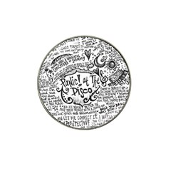 Panic! At The Disco Lyric Quotes Hat Clip Ball Marker (10 Pack)