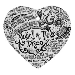 Panic! At The Disco Lyric Quotes Heart Ornament (two Sides) by Samandel