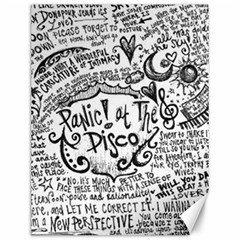 Panic! At The Disco Lyric Quotes Canvas 12  X 16   by Samandel
