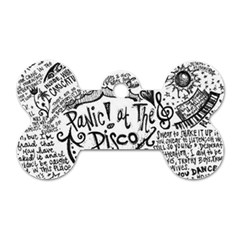 Panic! At The Disco Lyric Quotes Dog Tag Bone (one Side) by Samandel