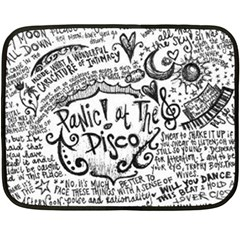 Panic! At The Disco Lyric Quotes Double Sided Fleece Blanket (mini)  by Samandel