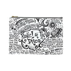 Panic! At The Disco Lyric Quotes Cosmetic Bag (large)  by Samandel