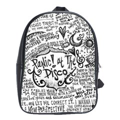 Panic! At The Disco Lyric Quotes School Bag (large) by Samandel