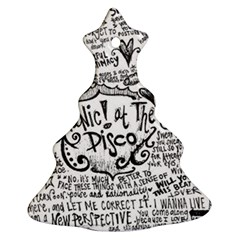 Panic! At The Disco Lyric Quotes Christmas Tree Ornament (two Sides) by Samandel