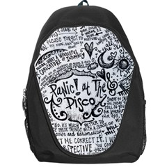 Panic! At The Disco Lyric Quotes Backpack Bag by Samandel
