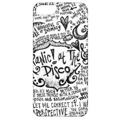 Panic! At The Disco Lyric Quotes Apple Iphone 5 Classic Hardshell Case by Samandel