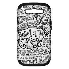 Panic! At The Disco Lyric Quotes Samsung Galaxy S Iii Hardshell Case (pc+silicone) by Samandel