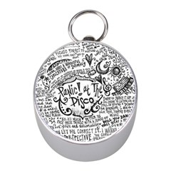 Panic! At The Disco Lyric Quotes Mini Silver Compasses by Samandel
