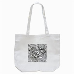 Panic! At The Disco Lyric Quotes Tote Bag (white) by Samandel