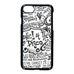 Panic! At The Disco Lyric Quotes Apple Iphone 7 Seamless Case (black) by Samandel