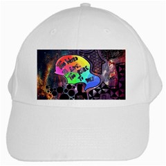 Panic! At The Disco Galaxy Nebula White Cap by Samandel