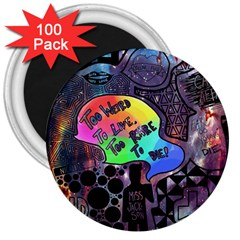 Panic! At The Disco Galaxy Nebula 3  Magnets (100 Pack)