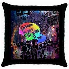 Panic! At The Disco Galaxy Nebula Throw Pillow Case (black) by Samandel
