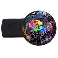 Panic! At The Disco Galaxy Nebula Usb Flash Drive Round (2 Gb)