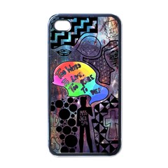 Panic! At The Disco Galaxy Nebula Apple Iphone 4 Case (black) by Samandel