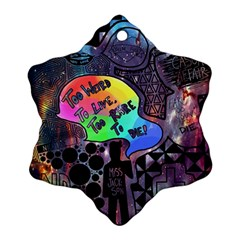 Panic! At The Disco Galaxy Nebula Ornament (snowflake)