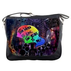 Panic! At The Disco Galaxy Nebula Messenger Bags by Samandel