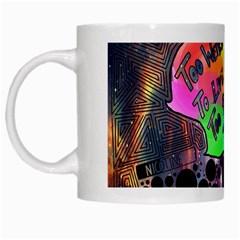 Panic! At The Disco Galaxy Nebula White Mugs by Samandel
