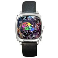 Panic! At The Disco Galaxy Nebula Square Metal Watch