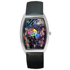 Panic! At The Disco Galaxy Nebula Barrel Style Metal Watch