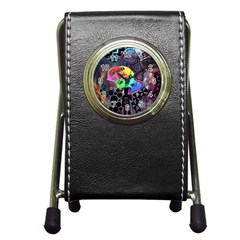 Panic! At The Disco Galaxy Nebula Pen Holder Desk Clocks by Samandel