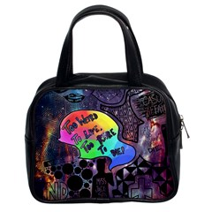 Panic! At The Disco Galaxy Nebula Classic Handbags (2 Sides) by Samandel
