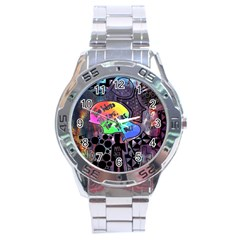 Panic! At The Disco Galaxy Nebula Stainless Steel Analogue Watch by Samandel
