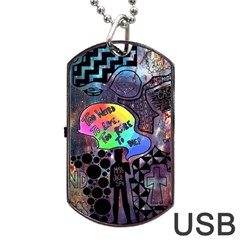 Panic! At The Disco Galaxy Nebula Dog Tag Usb Flash (one Side)