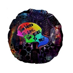 Panic! At The Disco Galaxy Nebula Standard 15  Premium Round Cushions by Samandel